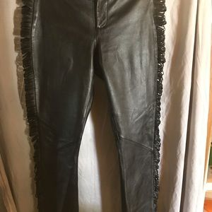 Leather Pants with Slits!